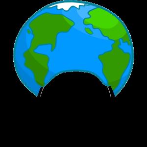 Globe hat cutout