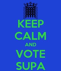 keep calm vote supa